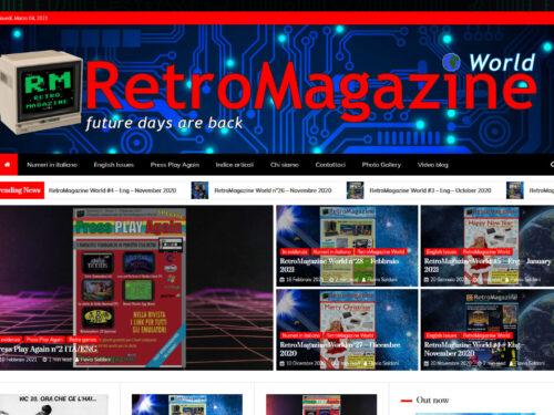 I miei lavori: Grafica e articoli per la rivista Retromagazine World
